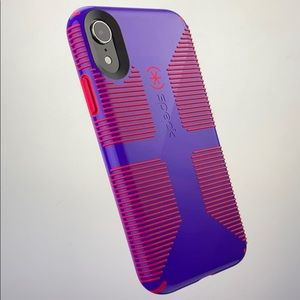 Speck Candyshell Grip iPhone XR Case purple red